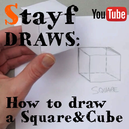 How to draw a square and cube
