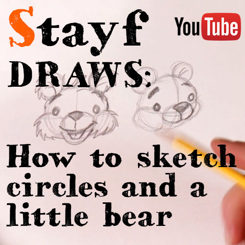 How to sketch a bear with a circle