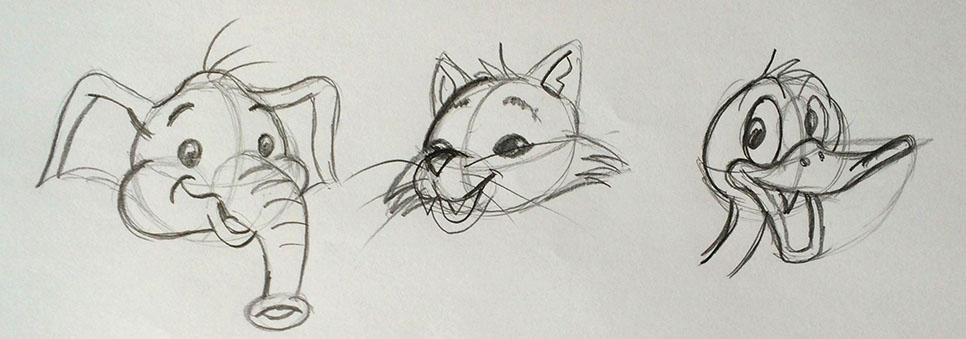 StefanTekent-Olifant-kat-eend