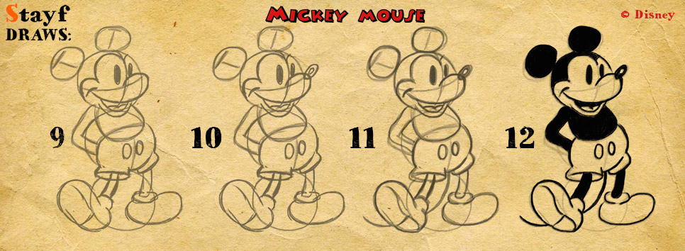 Draw MickeyMouse3
