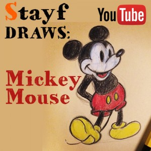 How to draw Mickey Mouse