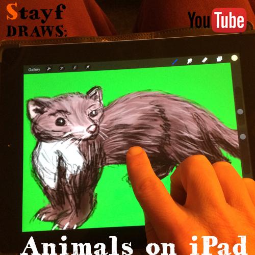 Painting animals on iPad