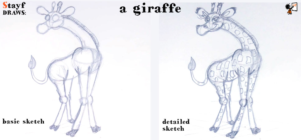StayfDraws-giraffe-sketch