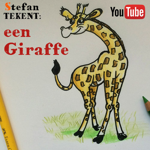 Cartoon giraffe tekenen