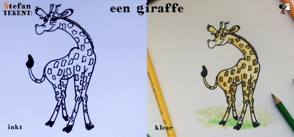 StefanTekent-giraffe-kleur