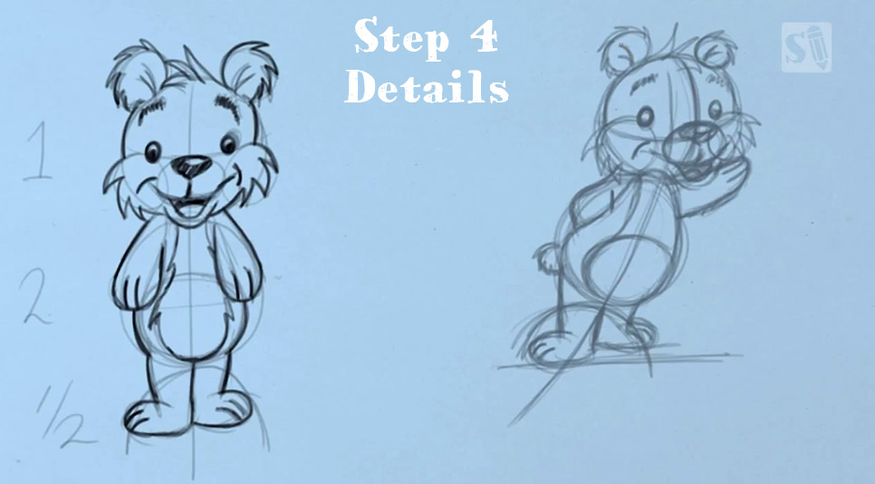 SD-Cartoonbear-5steps4