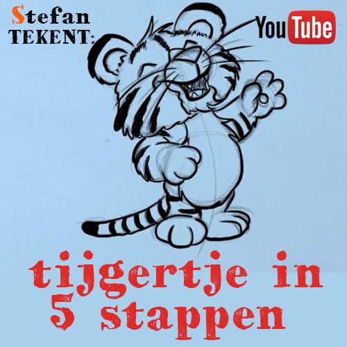 Hoe teken je een tijgertje?