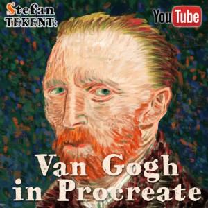 Vincent van Gogh in Procreate