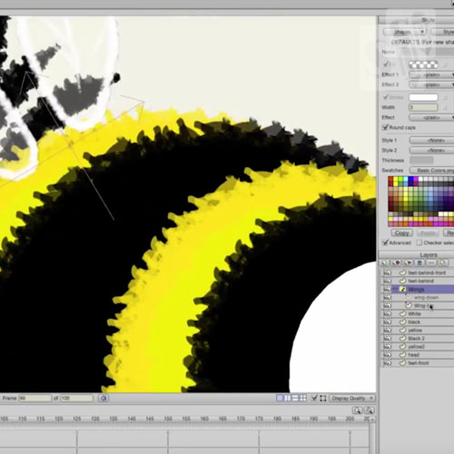 Animate 3D in 2D software