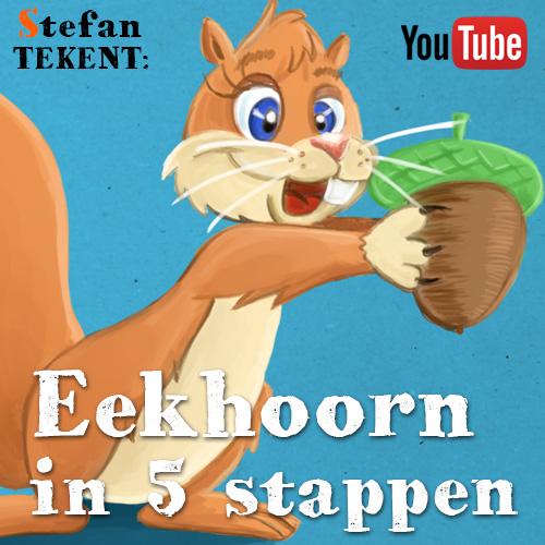 Cartoon Eekhoorn tekenen