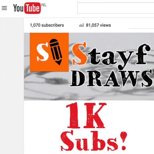 StayfDraws 1K Subscribers!