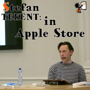 Stefan Tekent in Apple Store