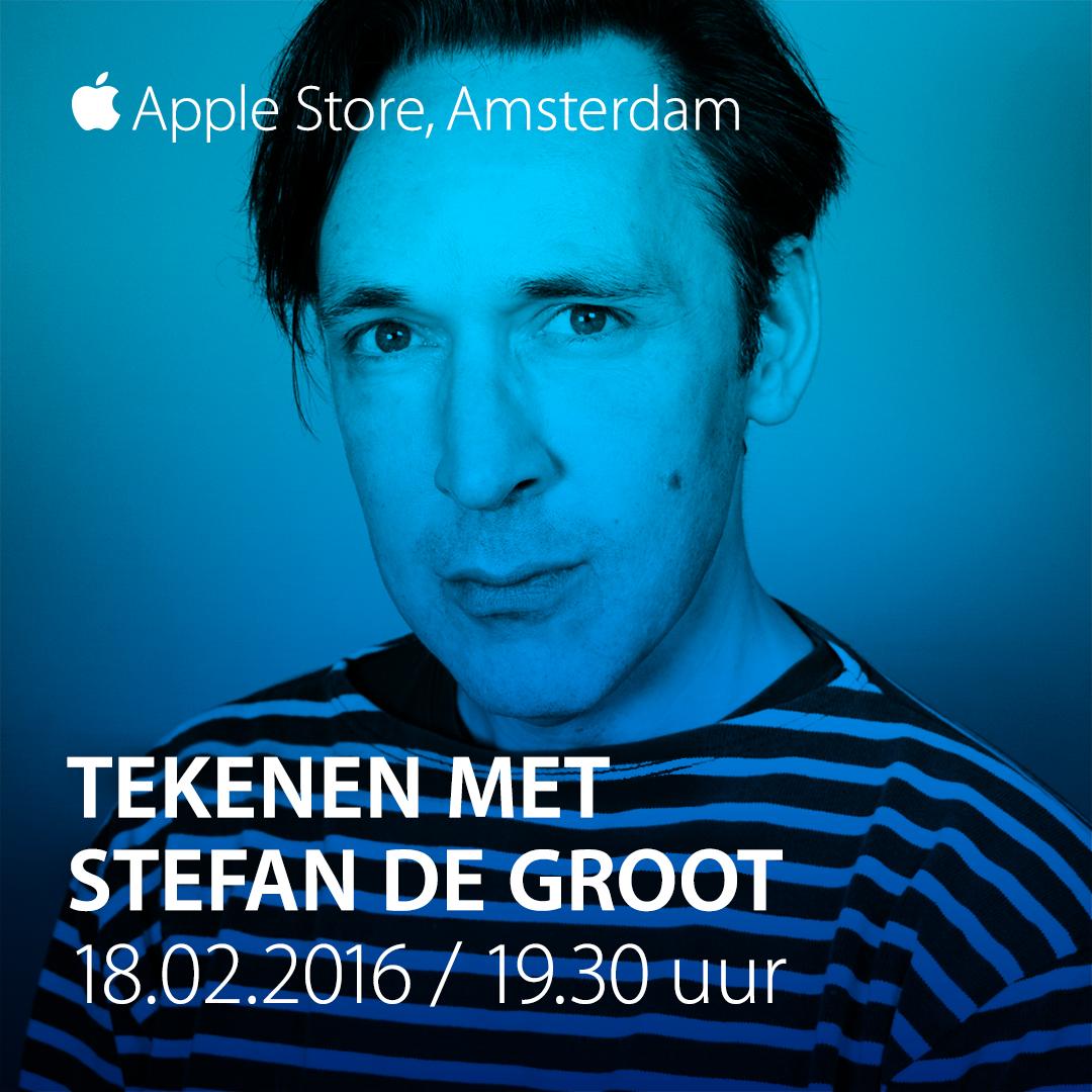 Stefan Tekent in Apple Store