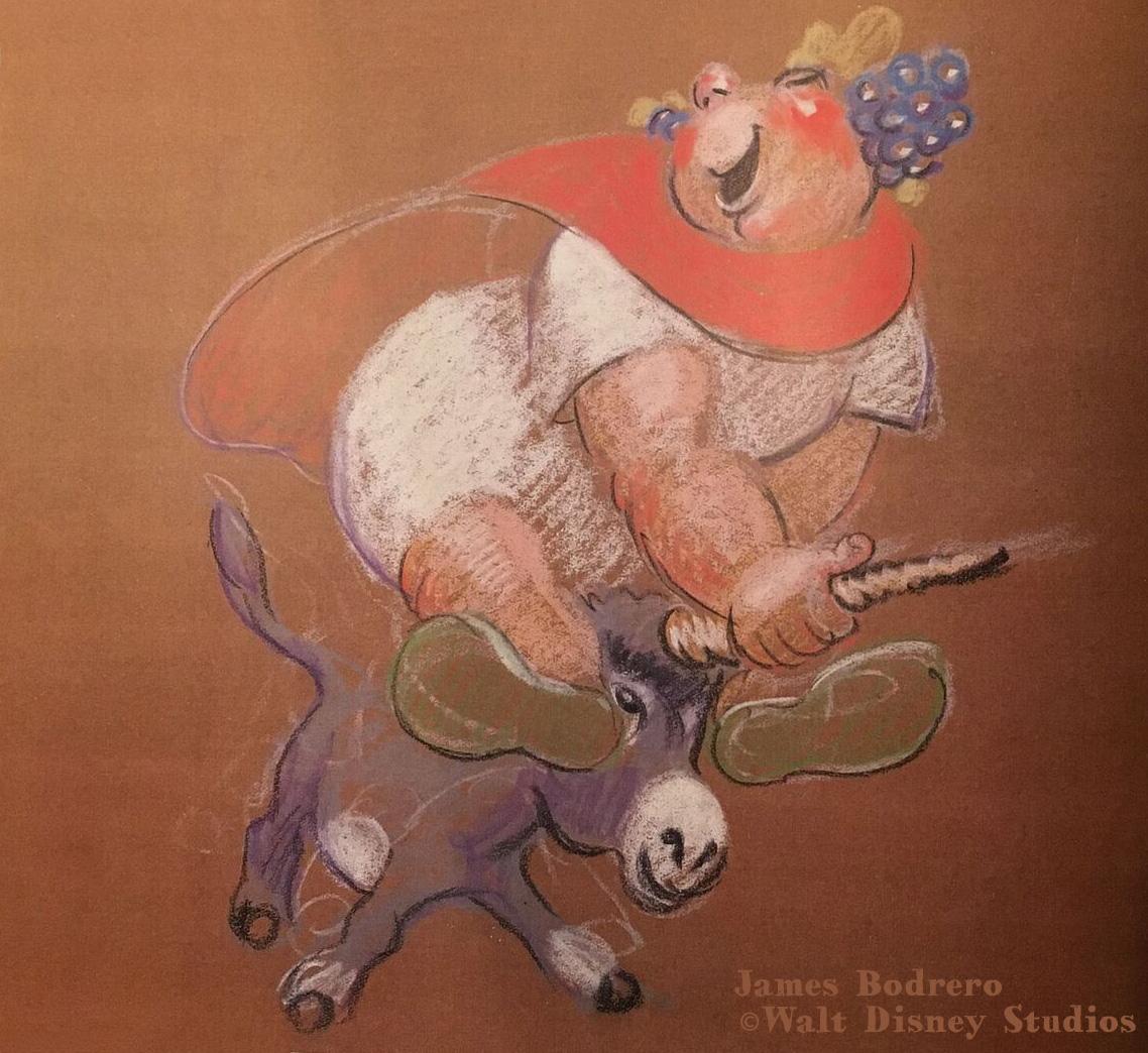 James Bodrero pastel Bacchus