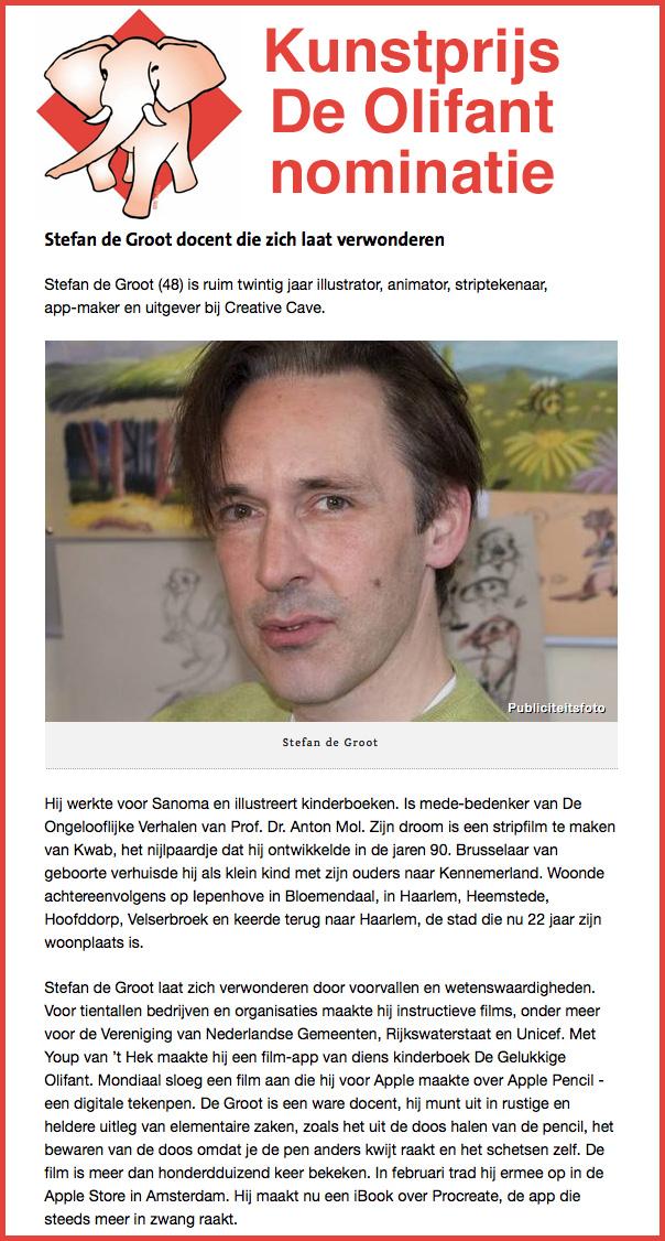 NominatieKunstprijsDeOlifant-2016-StefandeGroot
