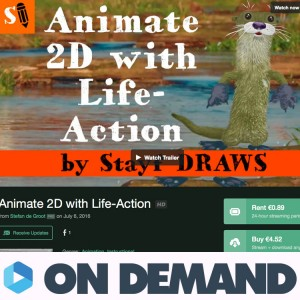 2D animation with Life-Action
