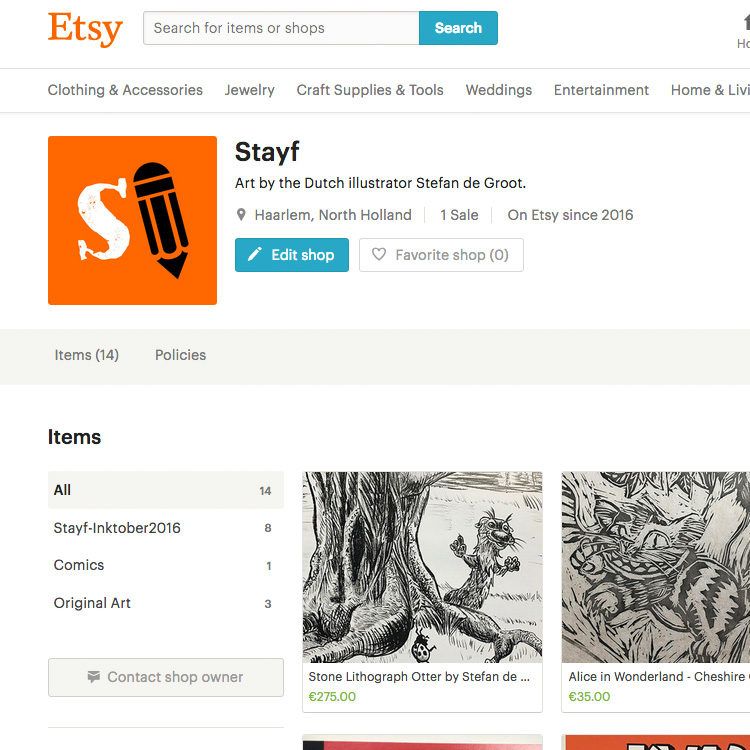 Stayf Draws on Etsy