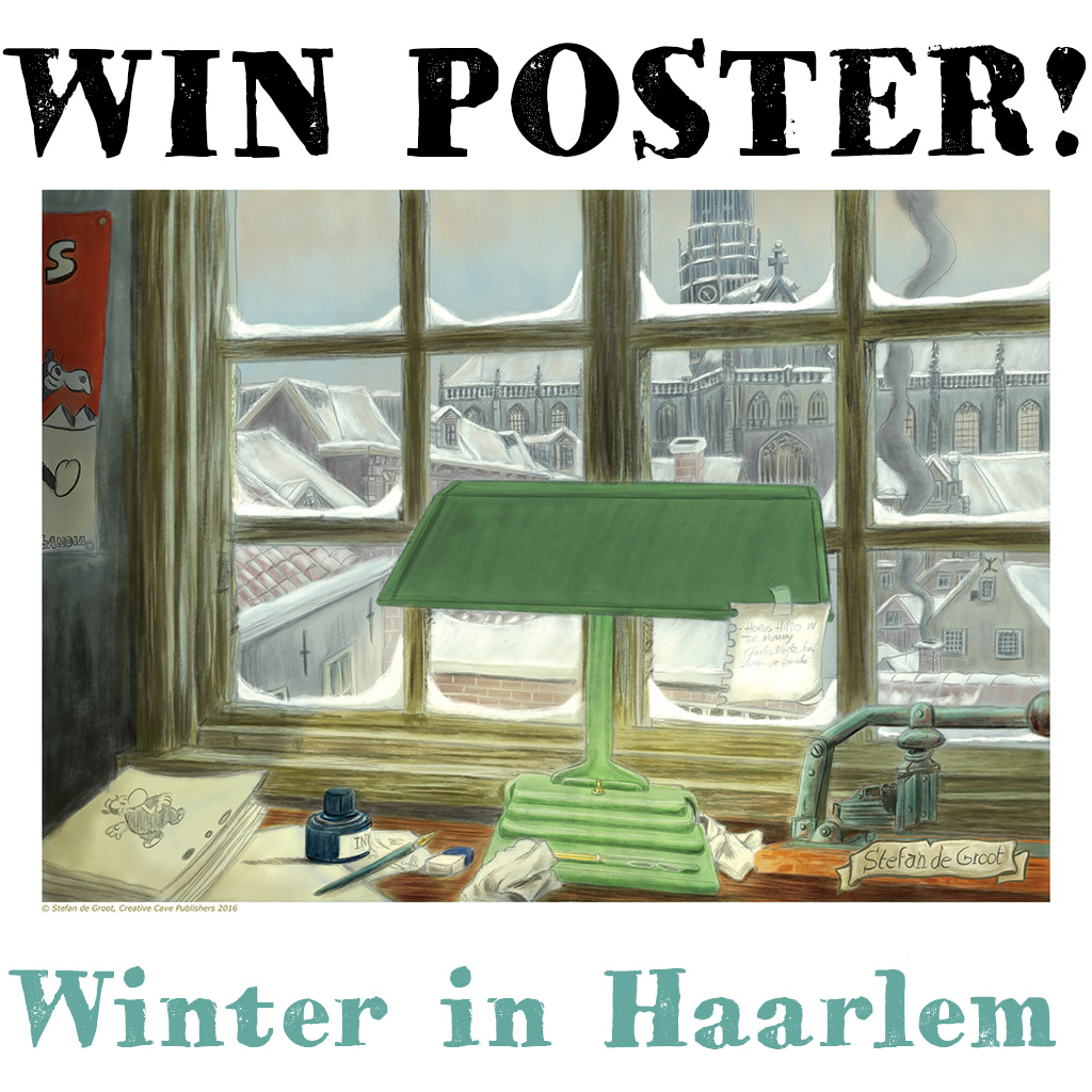 Win Poster Winter in Haarlem