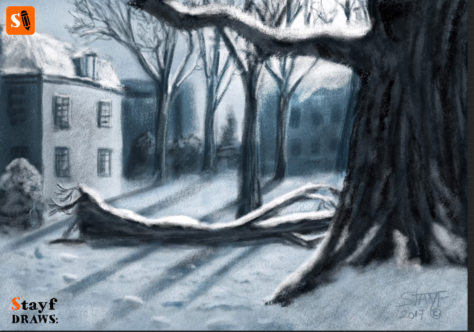 StayfDraws-Procreate-Pastels-Winterlandscape4