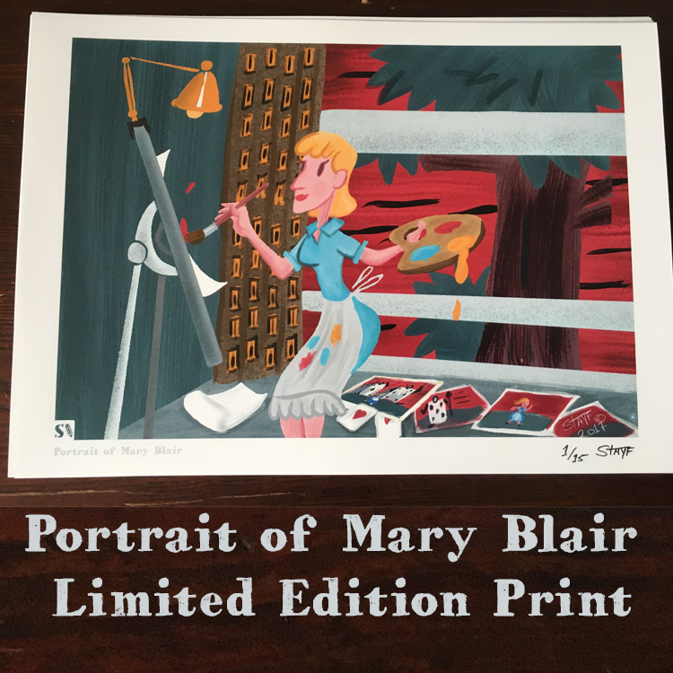Portrait of Mary Blair Print