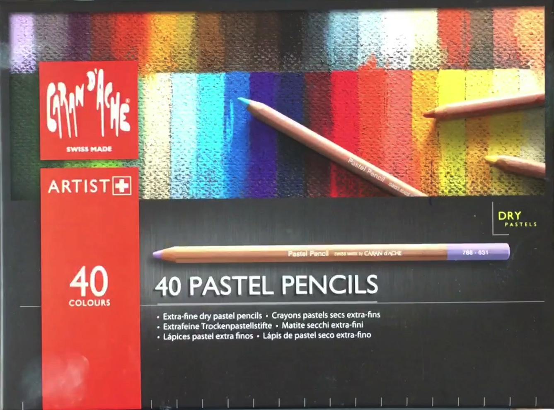 Caran D'Ache 40 pastel pencils box