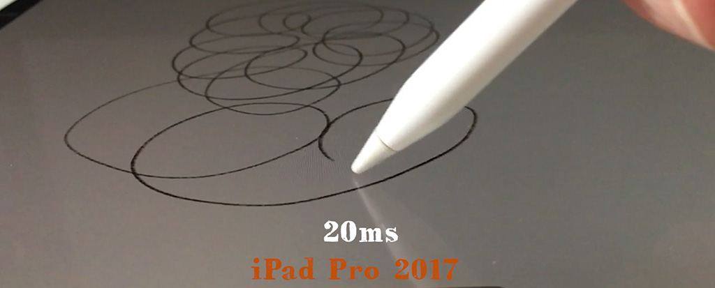 iPad Pro 2017 20 ms Latency
