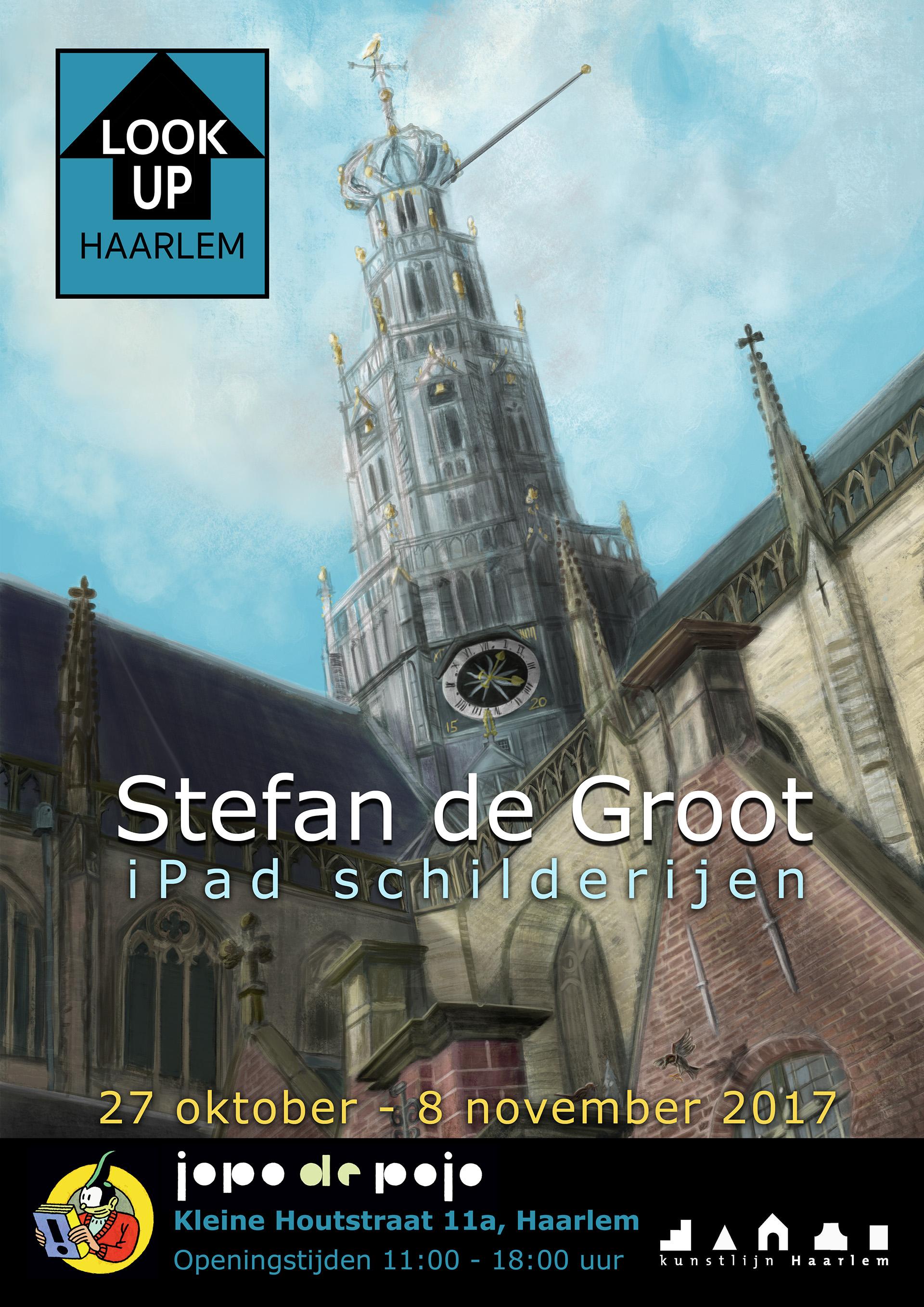 LookUp Haarlem Stefan de Groot iPad Schilderijen Expositie