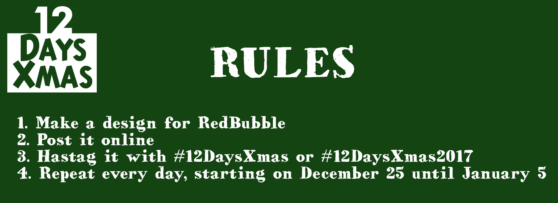 12 days of Christmas challenge rules