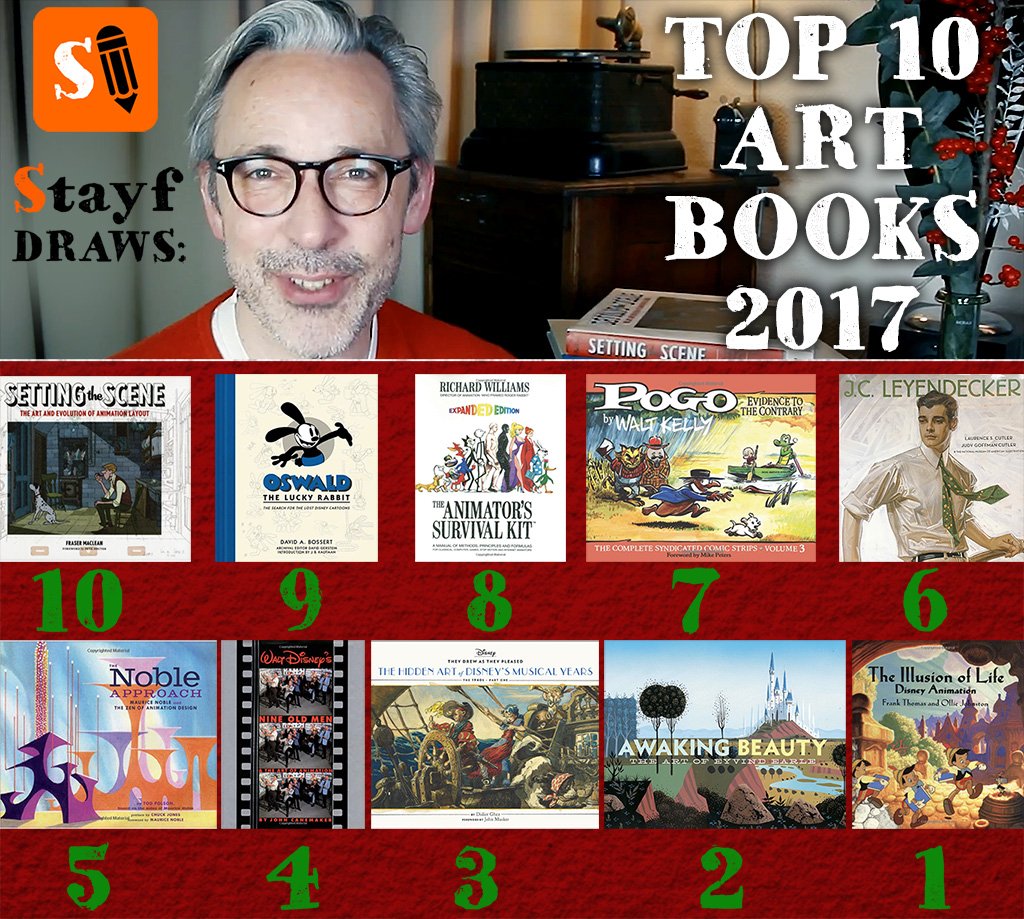 Stayf Draws Top 10 Art Books 2017