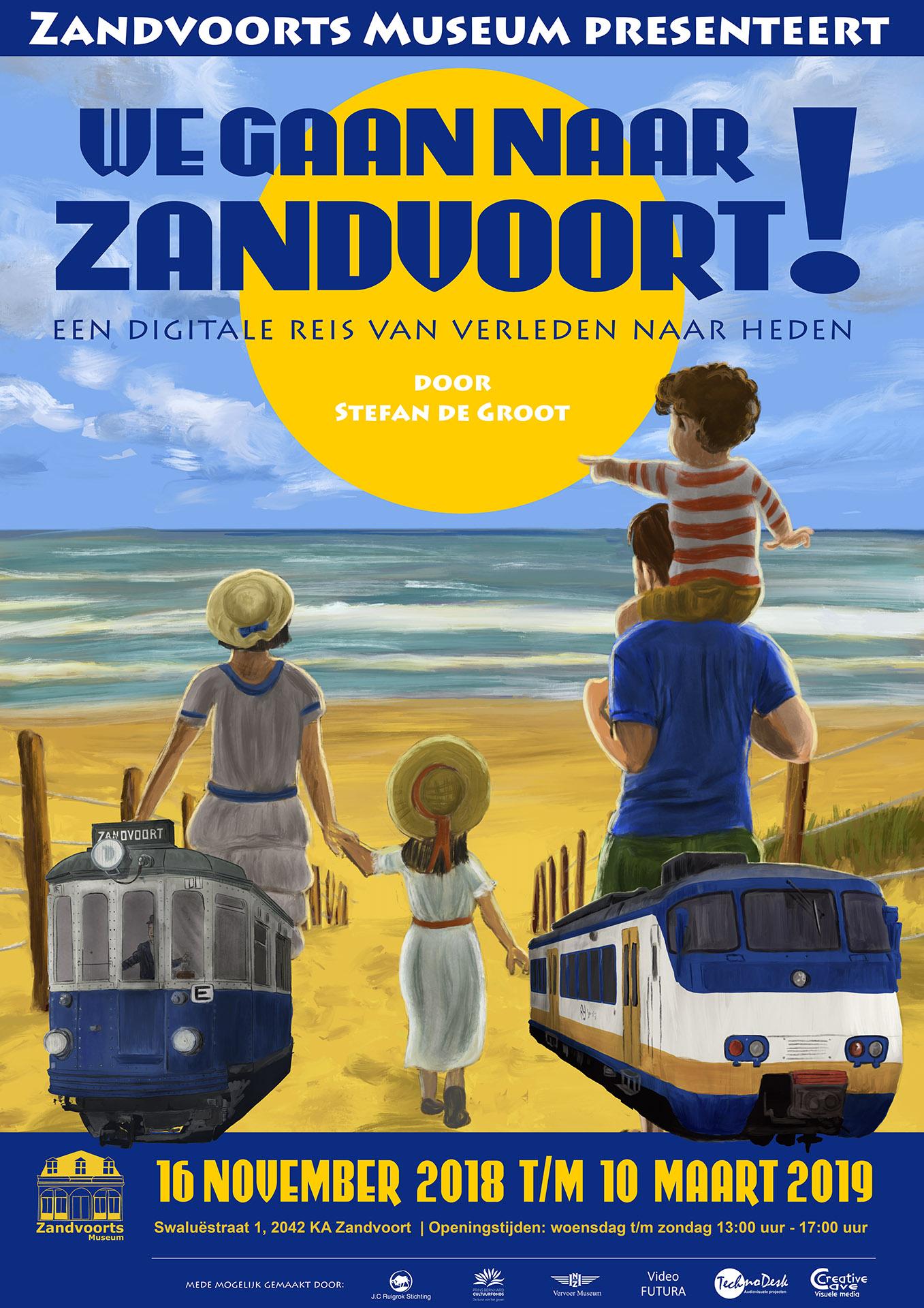 poster We Gaan Naar Zandvoort! Zandvoorts Museum