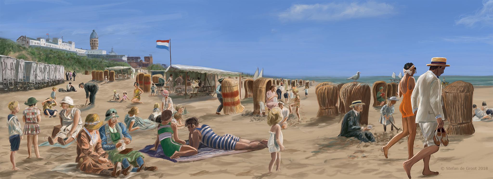 Panorama Zandvoort door Stefan de Groot
