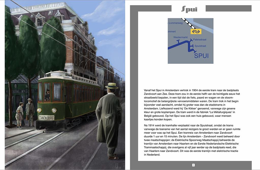 Spui Amsterdam tram