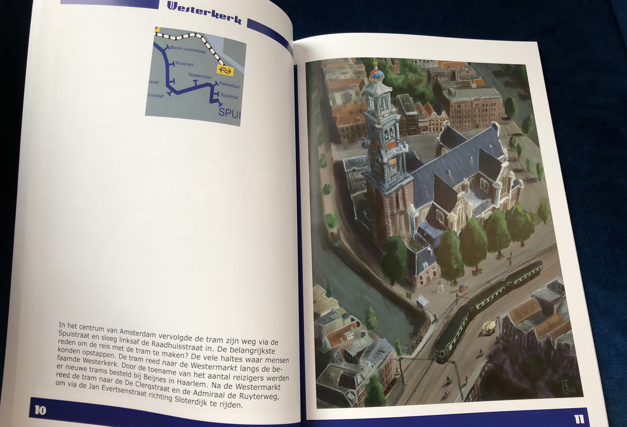 We gaan naar Zandvoort! Westerkerk blauwe tram