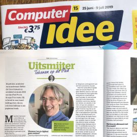 Computer Idee Interview Tekenen op de iPad