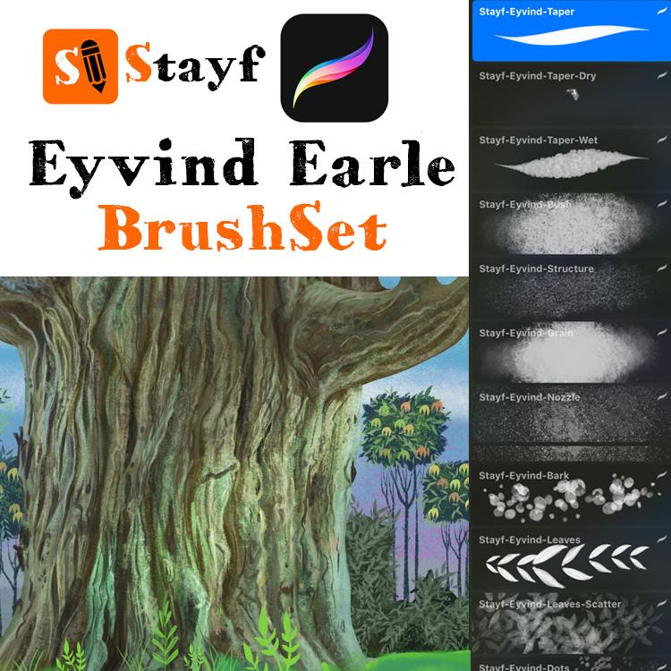 Stayf-Eyvind Earle BrushSet Procreate