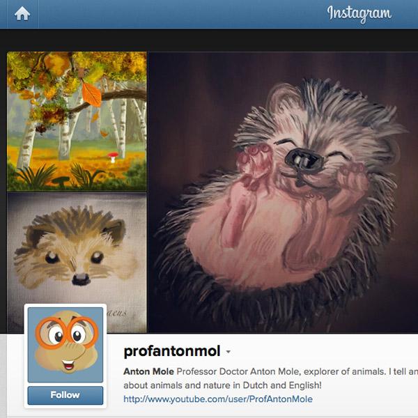 Professor Anton Mol op Instagram