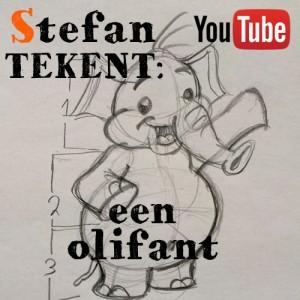 Tekenles 4: een olifant