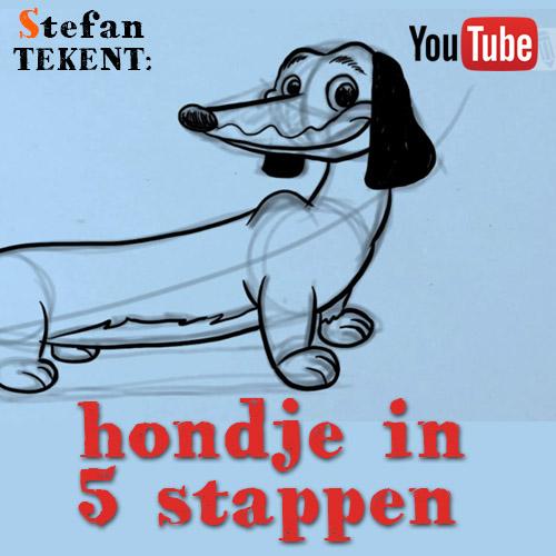 Hoe teken je een hondje?