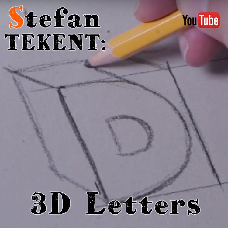3D letters tekenen