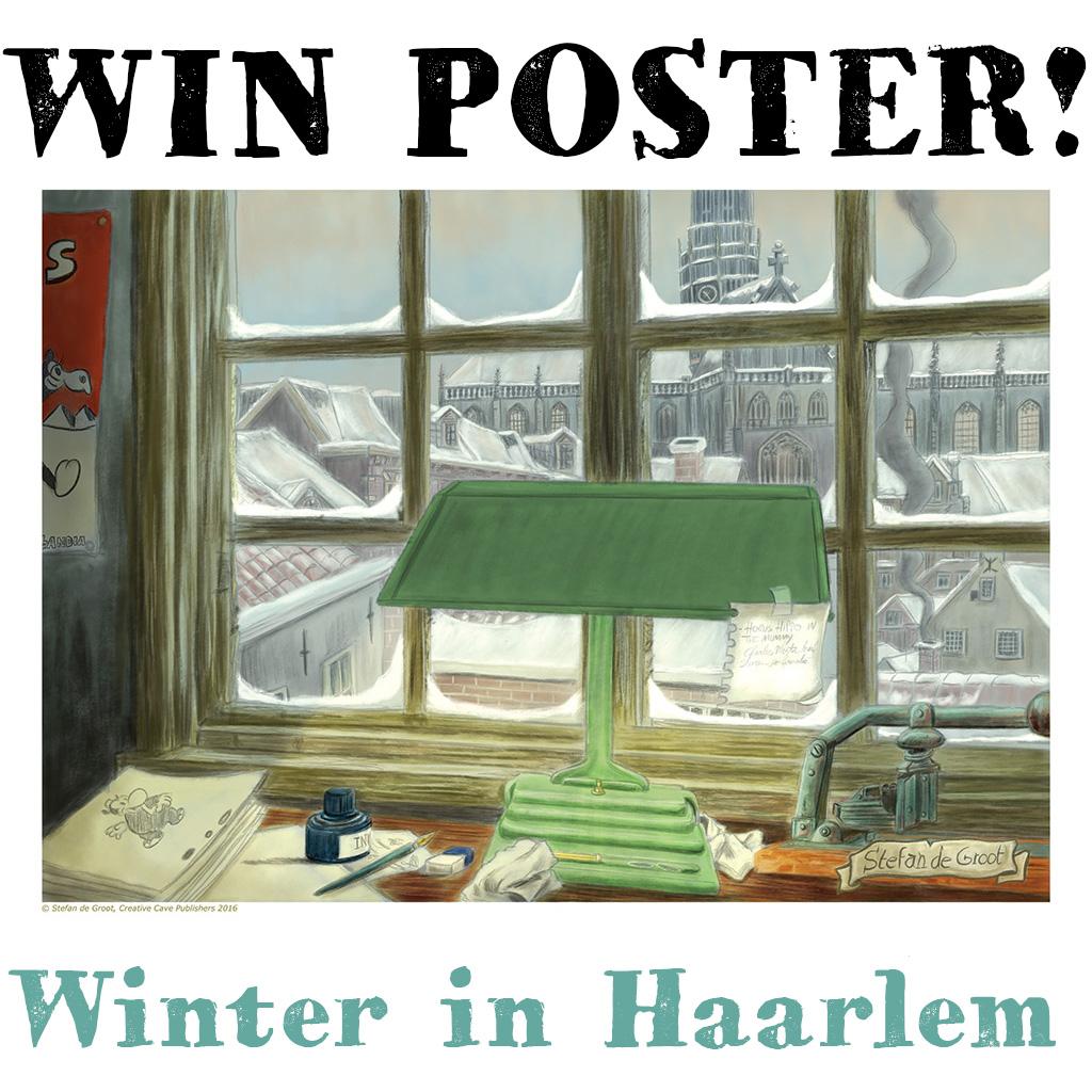 Win Poster Winter in Haarlem