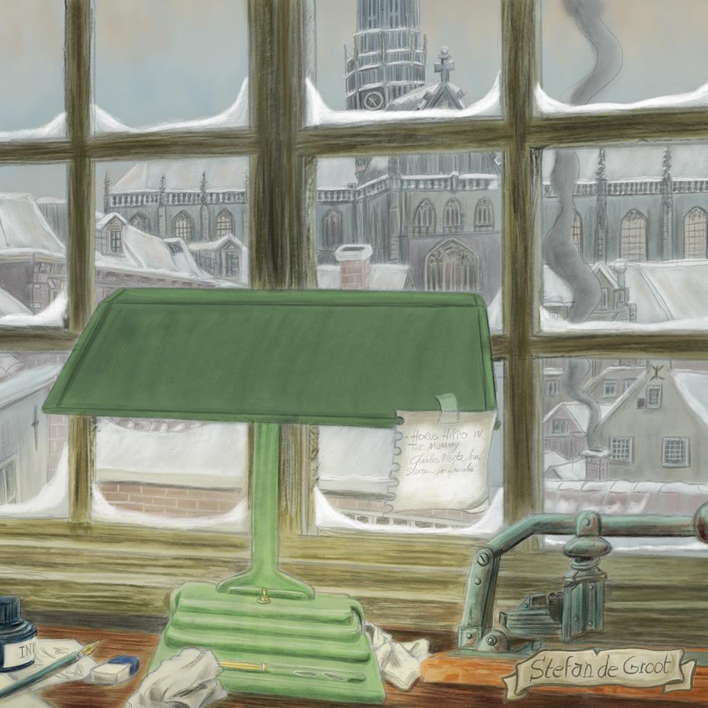 Poster Winter in Haarlem