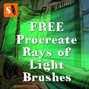 Free Rays of Light Brushes