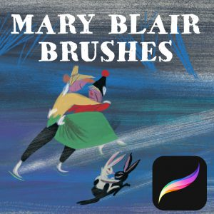 Procreate Mary Blair  Custom Brushes