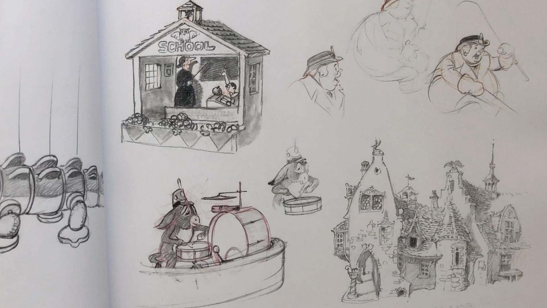 Albert Hurter concepts Pinocchio