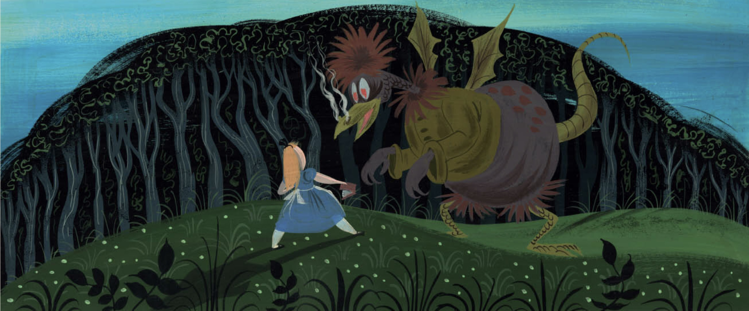Mary Blair concept Tulgey Wood sequence Alice in Wonderland