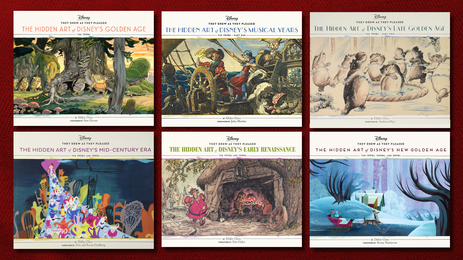 They Drew As they Pleased Hidden Disney Art Book Series