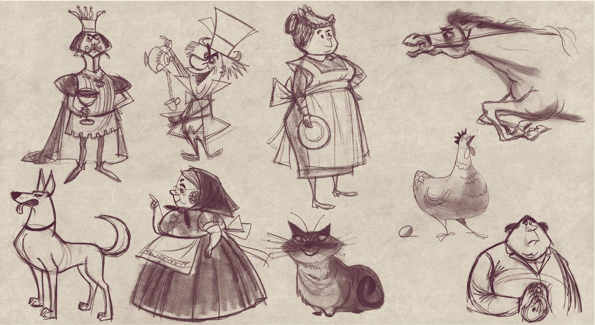 Tom Oreb character designs Walt Disney Studios