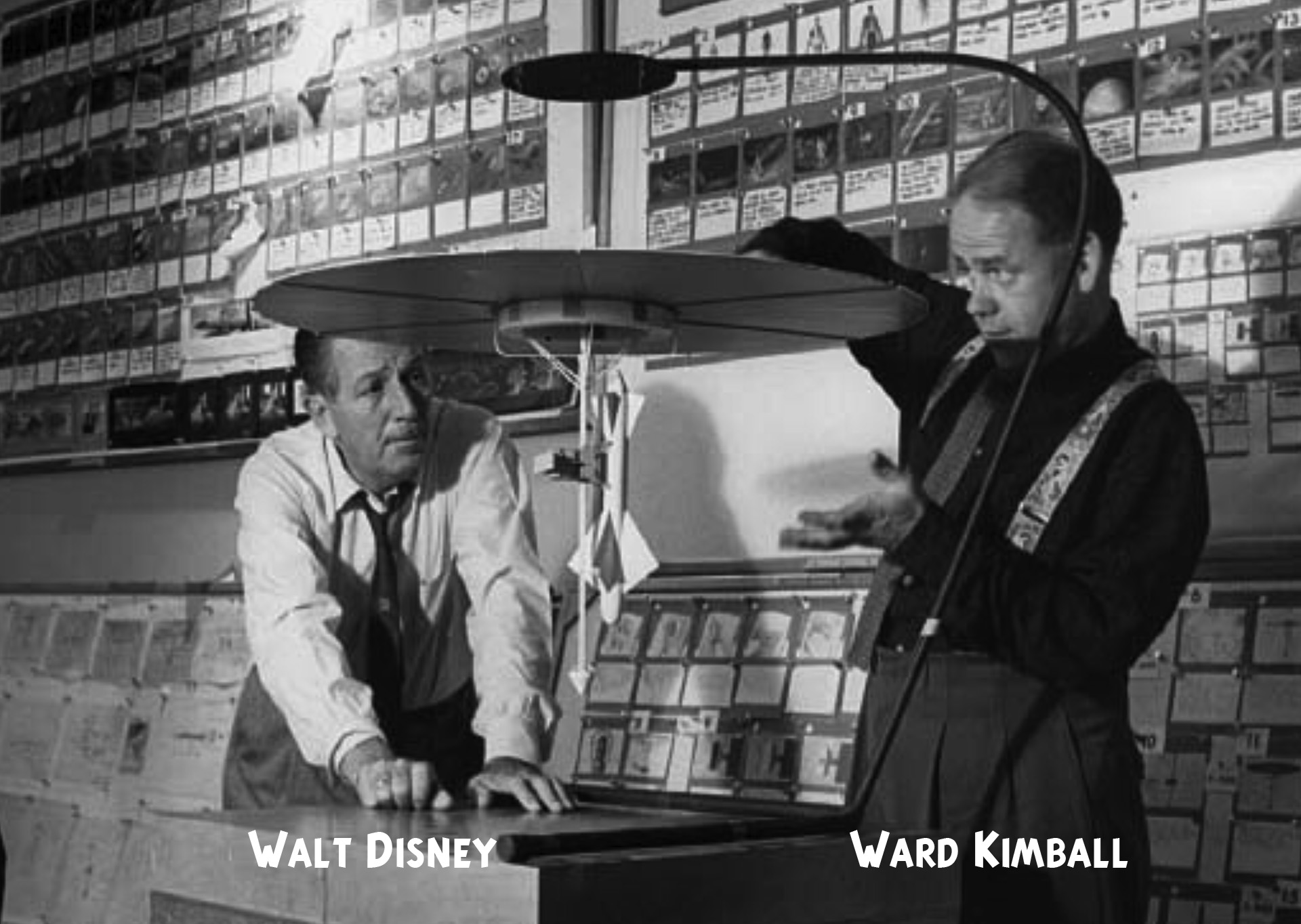Walt Disney and Ward Kimball